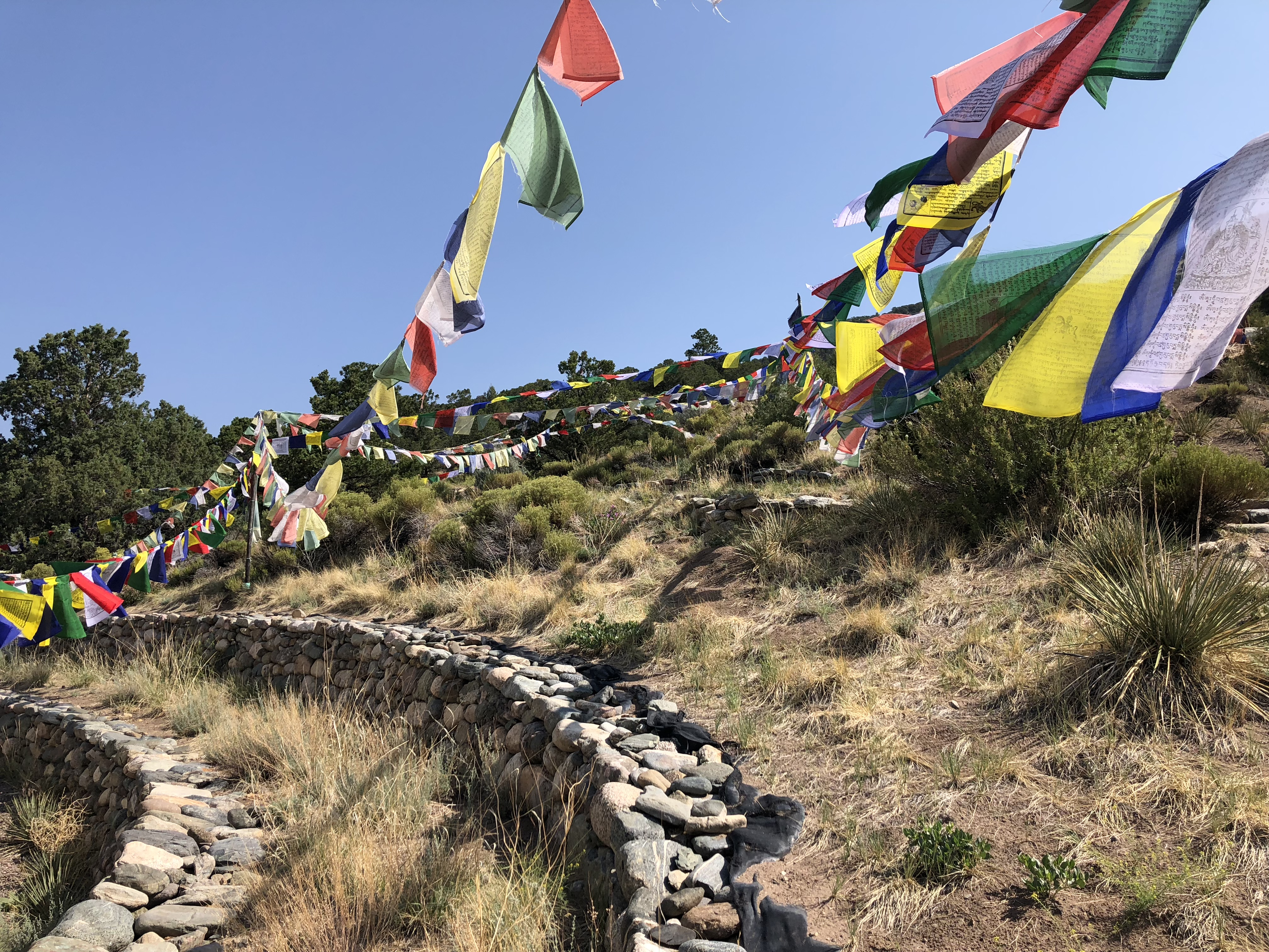 Prayer Flags around the Stupa