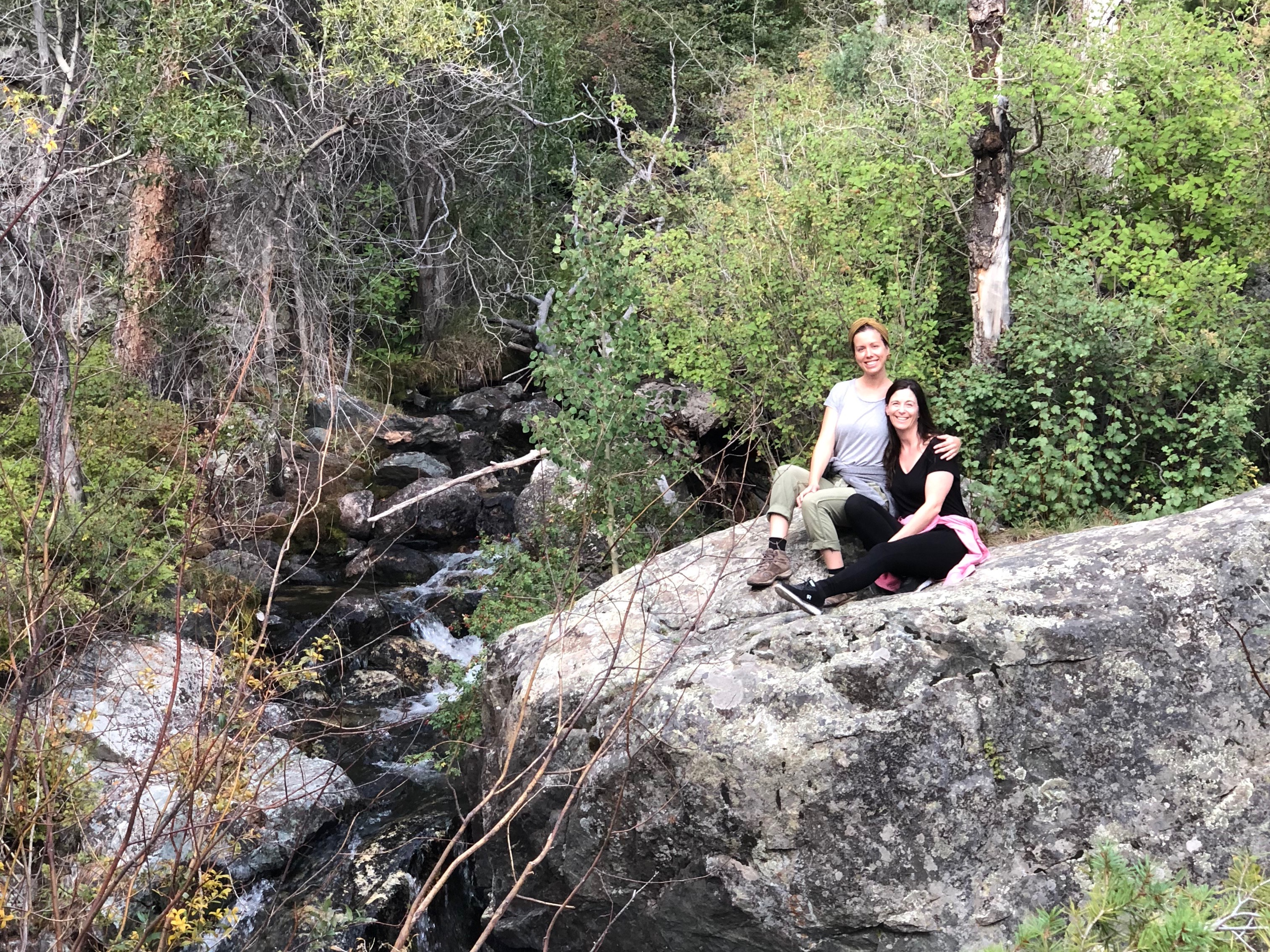 Nina and Lisa in the Aspen Forest